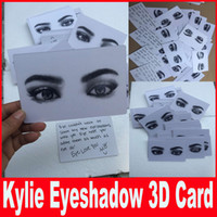 Wholesale Eye Shadow 3d - New Kylie Cosmetics 3D card for kyshadow multi-color eyeshadow the Bronze Palette kylie pressed powder eye shadow card