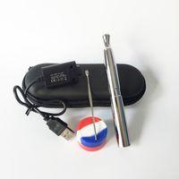 ecig wachs-starter-kit großhandel-Beste Qualität Puffco Pro Kit Bratpfanne VTwo Ecig Starter Kits 510 Quarzspule Wachs Vape Pen Dab Smoking Pen für Dry Herb Vaporizer