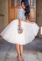 Wholesale Spot Tutu - 2017 Spot Verano Midi Falda de Tul Moda Plisado TUTU Faldas Para Mujer Lolita Petticoat Jupe Saia faldas Damas de Honor A1180