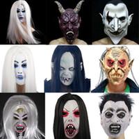 Wholesale Grudge Halloween Masks - Ghost Monster halloween masks Horror Grudge Sadeng high-end latex mask Dance props Eva makeup party horror ghost mask