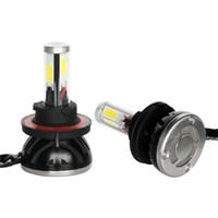 araç ışık ledli lamba 12v toptan satış-Süper parlak G5 tarzı 40 W 4000lm H13 Çift ışın 4 yan COB Araba Sürüş lambası Kaynağı Far Sis Ampul 6000 K 12 V-24 V led araç ışıkları
