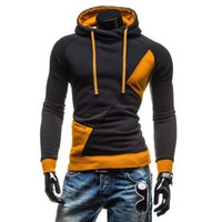Athletic Casual Hoodies Streetwear des hommes Patchwork manches longues Pull Hommes Sweat-shirts Hoodies Coton Bas Prix