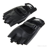 Wholesale Wholesale Leather Motorcycle Accessories - Motorcycle Gloves Outdoors Sports Accessories Magic Tape Anti-slip Tactical Riding Gloves Fashion Upscale PU Leather Half-finger Gloves L012