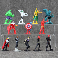 Wholesale Anime Marvel - 12Pcs set Anime Super Hero Marvel The Avengers Mini PVC Action Figures Collectible Model Toys Dolls Great Gifts for Kids 5-7cm