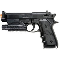 Wholesale Toy Guns Lasers - AIRSOFT SPRING HAND GUN PISTOL M9 92 FS BERETTA AIR w  LASER SIGHT 6mm BB BBs