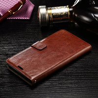Wholesale Galaxy Mini Power Case - For Iphone X 8 7 Plus I7 Samsung Galaxy J1 Mini J210 Huawei Mate9 LG V20 X Power Crazy Horse Wallet Leather Pouch Case ID Card Stand Cover