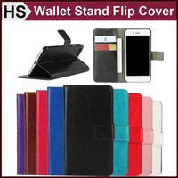 Wholesale Pull Leather - Pull-up Leather Wallet Stand Case For iPhone 7 Plus With Card Slot Pocket Kickstand Function & Hard PC Shell Colorful Flip Cover DHL