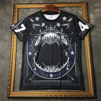 Wholesale Shirt 3d Shark - fashion men brand shark star men t-shirt tie-dye short sleeve europe tshirt kanye west 74 3D t shirt clothing hip hop yeezus