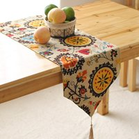 Wholesale Table Runner Tassel Wholesale - Foreign Table Flags Modern European-style Garden Coffee Table Stylish Simplicity Flag Tassels Bohemian Bed Table Runner Free Shipping