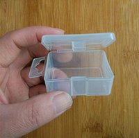 Wholesale Fish Containers - Transparent Plastic Storage Box For Coin Sample Container Jewelry Cosmetic Small Part Boxes Fish hook box