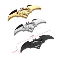 Car-styling 3D Metal Superman Batman pegatinas de coches Insignia Emblema Cool Funny Sticker Motocicleta Car styling Accessories Automóviles Decoración