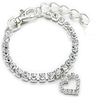 Wholesale Autumn Pendants - wholesale,luxury sparkling crystal necklace dog collar fashion dog necklace heart pendant. 10pcs lot, four color and size is available