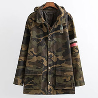 Wholesale jackets women resale online – Jacket Women Army Green Printed Camouflage Jacket Chaquetas Mujer Fall Clothing For Women Coat