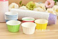 Wholesale Sell Muffin Cups - Hot selling 1500pcs Mixed mix color Polka DOT mix Stripe Round MUFFIN Paper Cake Cup Cake case