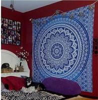 cobertores de ioga algodão venda por atacado-Eco-Friendly indiano Mandala Praça Chiffon Scarf Praia Lance Tapestry Hippy Boho Gypsy Algodão Toalha Toalha de Praia Mat Yoga Blanket
