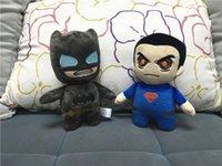 Wholesale Superman Bear Teddy - Kids Batman Plush Toys Cartoon Stuffed Animals 20cm Superman Soft Doll Movie Character Doll 20pcs