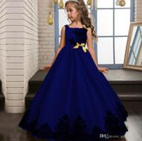 Wholesale High End Girls Dresses - 2017 Christmas Kid Girl Wedding Flower Girls Dress High-end Princess Party Pageant Formal Dress Sleeveless Prom Wedding Birthday Dress
