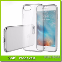 Wholesale Slim Phone Case Brands - Ultrathin TPU soft case for iPhone 8 7 7Plus 6 6S 0.6mm Brand phone cover For iPhone8 Transparent Slim back case for Samsung S8 mix model
