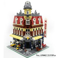HHXY IN STOCK 2133Pcs 15002 Cafe Corner Model Building Kits Блоки Kid DIY Кирпич Toy Gift LEPIN Совместимость с 10182