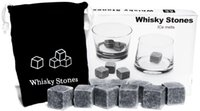 Wholesale Mold Stones - Kitchen Gadgets stone cube Shape Stainless Steel Whiskey Ice Cubes Cooler Stone Wine Beer Cooling Tray Mold Ice Mould 10set