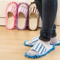 Wholesale Microfiber Floor Slippers - 27*11cm Microfiber Dust Cleaner Cleaning Mop Slipper House Bathroom Floor Shoes Cover Lazy Tool Home Supplies 2pcs pair CCA6943 60pair
