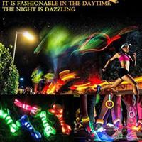 leuchtende turnschuhe großhandel-200 Stücke Led Schnürsenkel Leuchtende Blinkende Blei Schnürsenkel Disco Party Casual Sneaker Leuchten Wasserdicht Glow Nylonband Lampe Bunte
