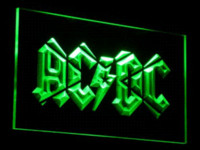 Wholesale Neon Sign Bands - c079 ACDC AC DC Band Music Bar Club LED Neon Light Sign Wholesale Dropshipping Cheap dropship jewellery