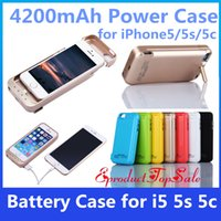 Wholesale Iphone5 Power Cases - Power Cases For iPhone 5C 5S SE Cellphone External Battery Case 4200mAh Power Bank with USB For iPhone5 5s In Stock UPS Free