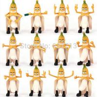 Wholesale Headplay Evil Bad Banana Man - Evil Banana 12pcs set 2.4'' Free Shipping Headplay PVC Figures Toy Anime Cartoon Movie Bad Banana Man Doll Gift Toys 1206#06
