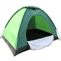 Wholesale Fiberglass Cloths - Wholesale- Two People Single Outdoor Nylon Cloth Waterproof Coating Layer Color Random Camping Hiking Tent