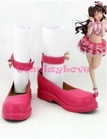 Wholesale Cinderella Halloween Costume - Wholesale-Newest Custom Made Japanese Anime THE IDOLM@STER CINDERELLA GIRLS Shimamura Uzuki Cosplay Boots Shoes For Christmas Halloween