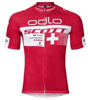Wholesale Cycling Jerseys Only - Wholesale 2017 SCOTT Cycling Jersey Short Sleeve Sweater Road Bike Cycling Clothing Wear Clothes ropa ciclismo Top only