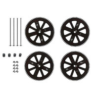 Wholesale Ar Drone Pinion Gear - Parrot AR Drone 2.0 OEM Motor Pinion Gear Gears and Shaft Clips Set Parts Black