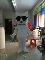 Wholesale Big Cats Mascot - Factory direct sale Lovely big White cat cartoon doll Mascot Costume Free shipping