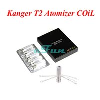 Wholesale T2 Coil Wholesale - Original Kanger T2 Clearomizer Changeable Coil Kangertech T2 Atomizer Coil Core Kanger T2 Replacement Coils with Long Wick Kangertech Coil