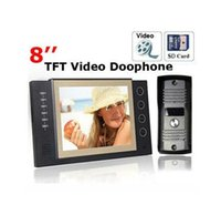 """Wholesale Door Phone Sd - 8""""inch TFT Wired Video Door Phone with SD Card Record Monitor +Camera Auto-night"""