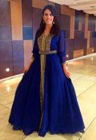 or pakistanais achat en gros de-Arabe pakistanaise mère de robes de soirée mariée, plus la taille avec manches longues Dubai Abaya paillettes d'or en mousseline de soie islamique musulman robes de bal