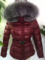 Wholesale fur coat models - 2016 winter down coat silver blue fox fur collar jacket female models well-known brands