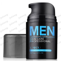 Wholesale Balance Treatment - 2016 new Brand LAIKOU Natural Men's Skin Care Cream Face Lotion Moisturzing Oil Balance Brighten pores minimizing 50g Men Facial Cream JTLY