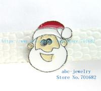 Wholesale Santa Bead Cap - 5pcs 8mm Christmas Santa Claus wholesales price Internal Dia.8mm fit 8mm wristband belt keychain dog collar bracelet SL427