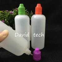 Wholesale plastic bottling resale online - ml E Cig Bottles LDPE Plastic Dropper Translucent PE Empty E Juice Bottle Colorful Child Proof Caps Long Thin Dropper Tips