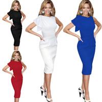 Wholesale Eveing Dress Ruffles - women Dress summer Sleeveless Lady Dresses V-Neck Dress girl Party eveing dress plus size 2016 Summer free shipping d0040