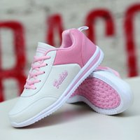 Wholesale Korean Style Running Shoes - Bigcat Korean style PU sneakers casual shoes flat bottomed running shoes breathable shoes for women and girls