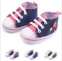 Wholesale China Wholesale Fallen Shoes - Drop shipping soft baby shoes,Lovely canvas lace flower toddler Casual shoes,0-18 M fall kids shoes,china boys shoes!9pairs 18pcs.ZH