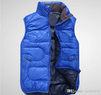 Wholesale Value Jackets - New Outside the single value selling big T men's Jacket Vest outdoor down vest men high down vest