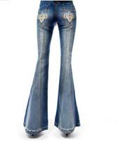 nouveau pantalon grande jambe achat en gros de-2016 nouveau restaurer anciennes façons pantalons à jambe large jeans pantalon femme grosse corne