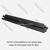 Wholesale Best Price Plastic Models - Model HCT013 8pcs pack 25x23x600mm best price Twill weave matte finished carbon fiber pipe tube tee