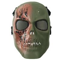 ingrosso maschere traspiranti-Maschera di orrore del partito maschera del cranio di orrore adulto completo viso traspirante maschera di Halloween festa in maschera festa Cosplay costume dramma giocattolo