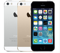 apfel iphone 5s gps großhandel-Apple iPhone 5S Original entsperrt Handys iOS 8 4.0