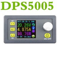 Wholesale Digital Voltage Current Display - DPS5005 Constant Voltage current Step-down Programmable control Power module buck converter color LCD Display voltmeter DP50V5A Upgraded